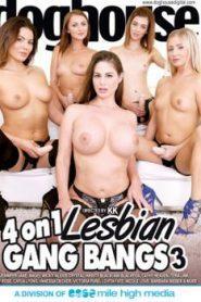4 On 1 Lesbian Gang Bang 3