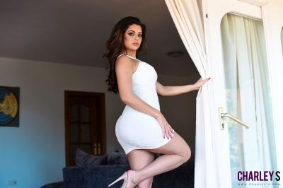 Charley S. - Teasing in Sexy White Dress