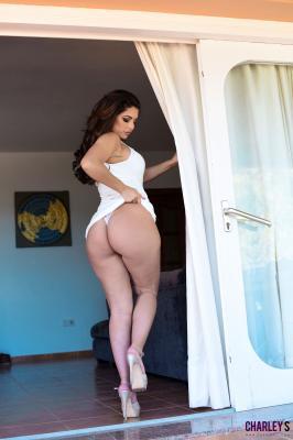Charley S. - Teasing in Sexy White Dress o6rv32vsj4.jpg
