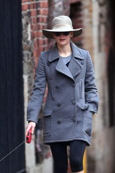 Jennifer Lawrence walking her dog in NYC 1