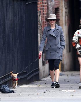 Jennifer Lawrence walking her dog in NYC 2