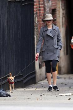 Jennifer Lawrence walking her dog in NYC 4