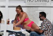 Iskra Lawrence Wearing Bikini at the beach in Miami 12/12/201759190175_44