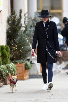 Jennifer Lawrence out with Pippi LawrenceStocking in 3